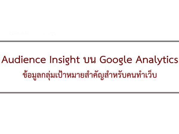 Audience Google Analytics วิเคราะห์
